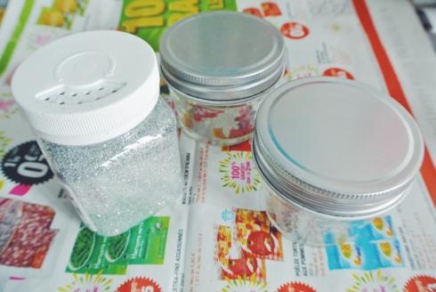 DIY jars à paillettes