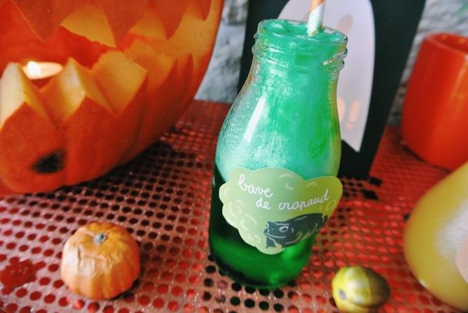 cocktails halloween bave de crapaud