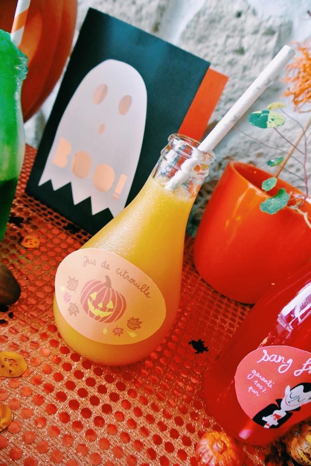 cocktails halloween jus de citrouille