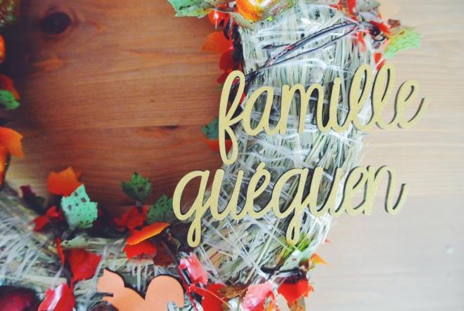 DIY couronne automne porte