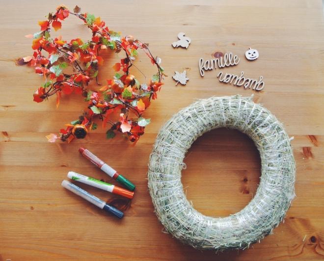 DIY couronne porte automne