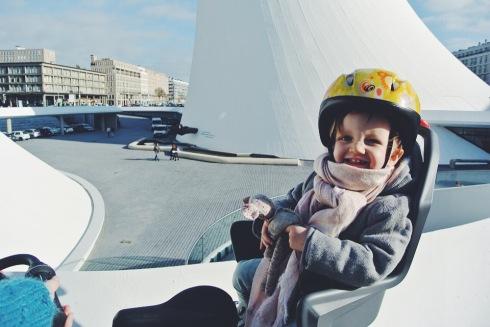 manteau tape à l'oeil vélo bébé espace niemeyer le havre