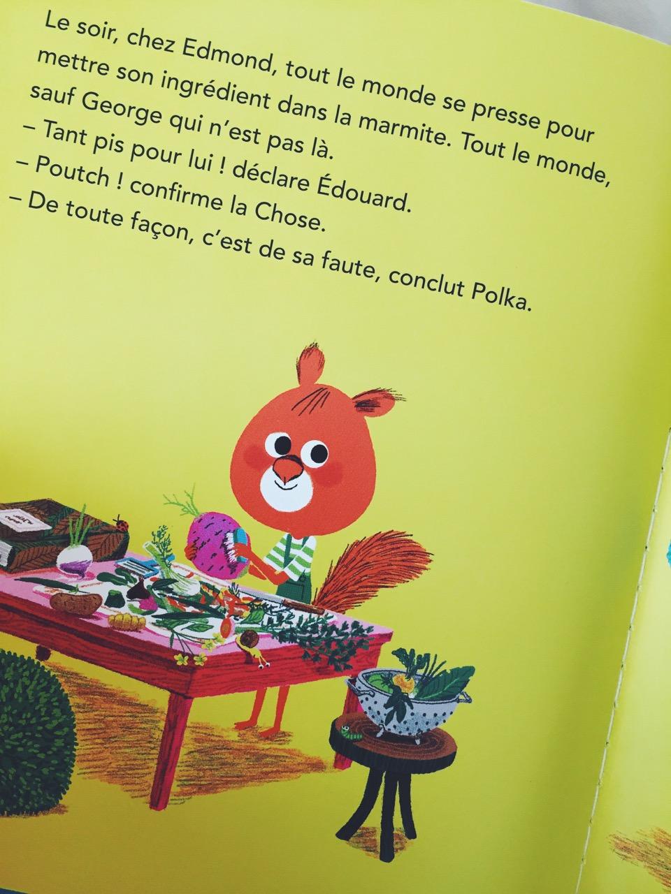 La soupe à tout littérature jeunesse coup de coeur lecture enfant Edmond l'écureuil