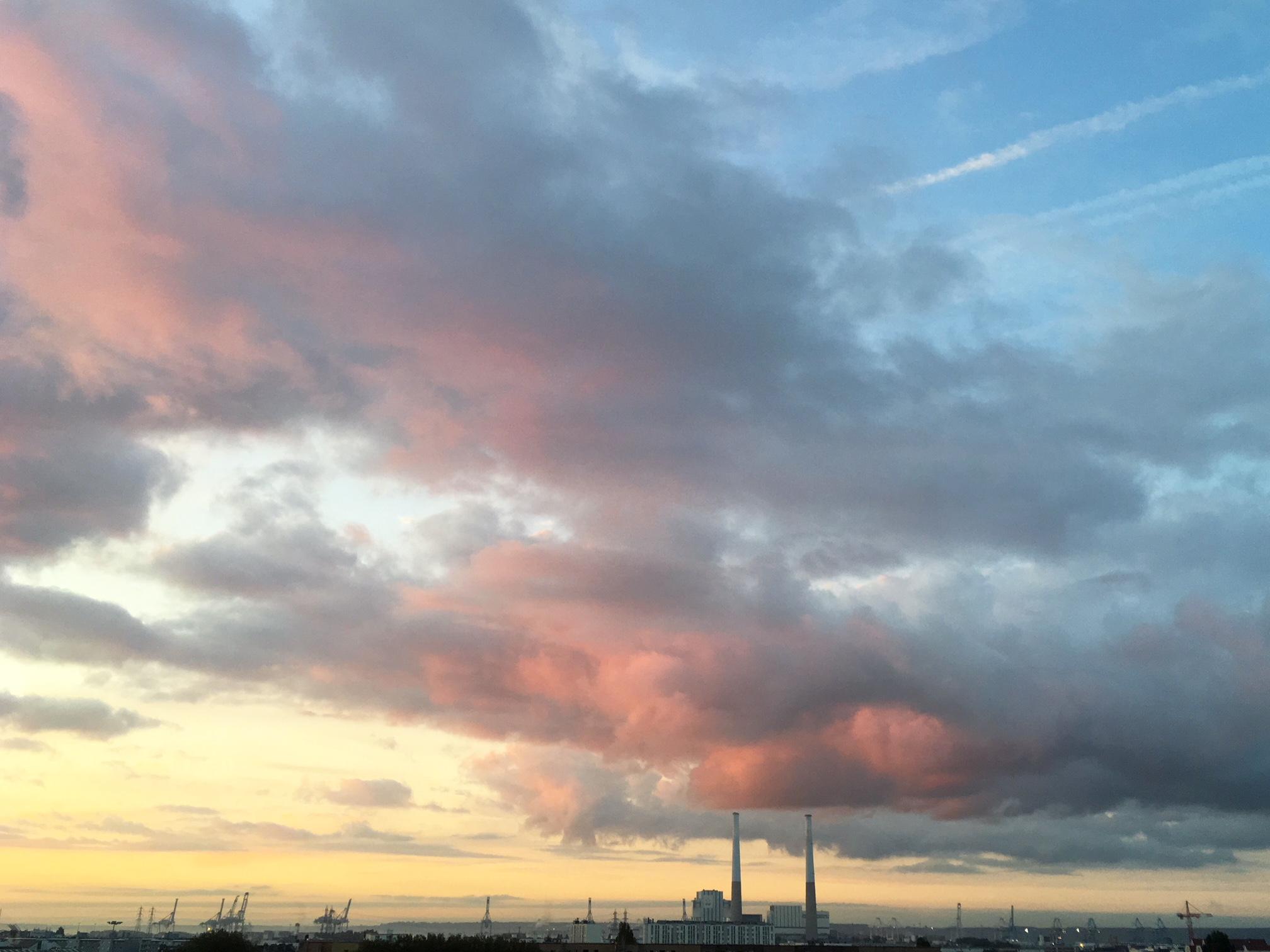 lever de soleil automne le havre